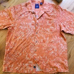 Caribbean Joe  %100 silk shirt